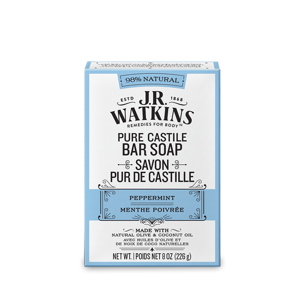Bar Soap, Hand & Body, 8 oz, Peppermint Castile