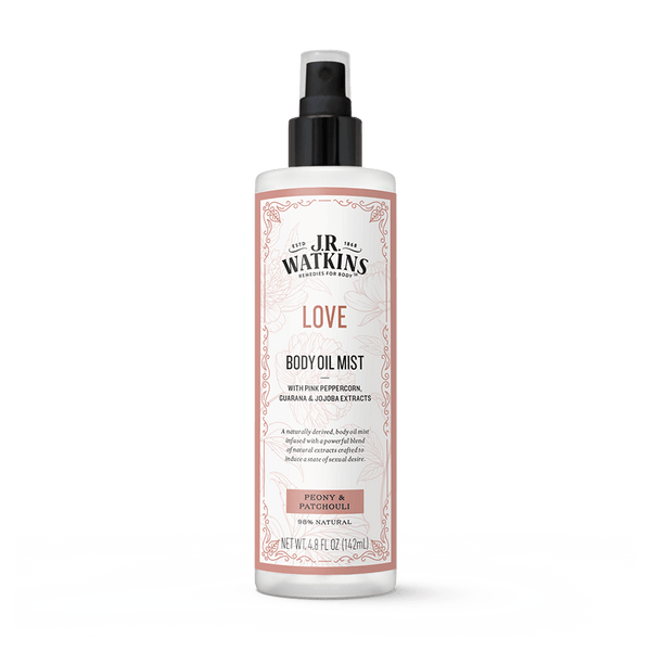 Body Oil Mist, 4.7 fl oz, LOVE (Peony & Patchouli)