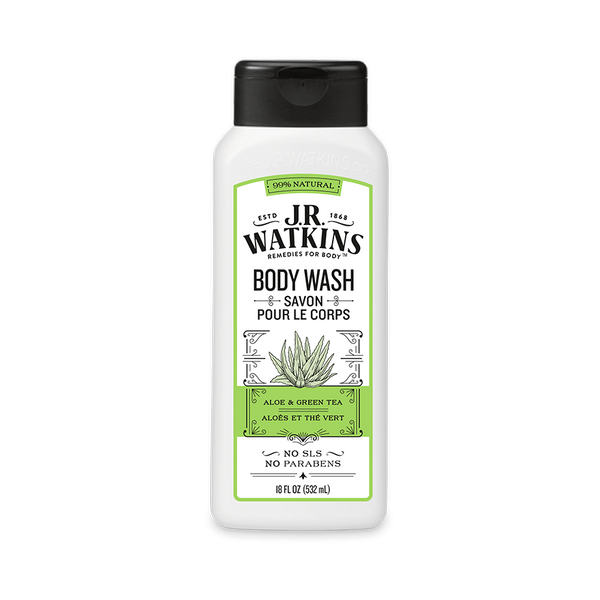 Body Wash, Daily Moisturizing, 18 fl oz, Aloe & Green Tea