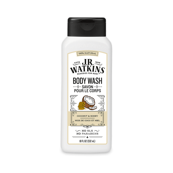 Body Wash, Daily Moisturizing, 18 fl oz, Coconut Milk & Honey