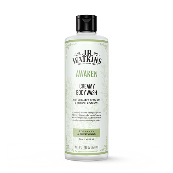 Creamy Body Wash, 12 fl oz, AWAKEN (Rosemary & Rosewood)