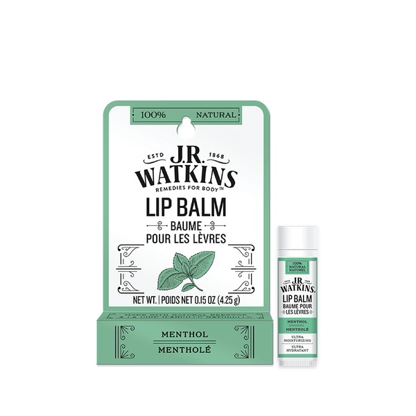 Lip Balm, Stick, .15 oz, Menthol, Peg