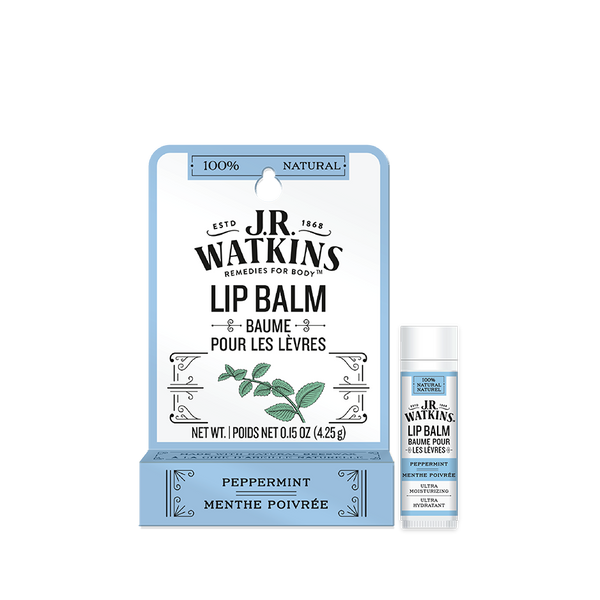 Lip Balm, Stick, .15 oz, Peppermint, Peg