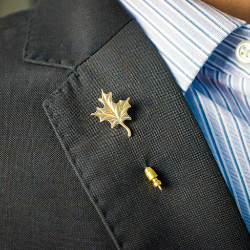 10K Yellow Gold Maple Leaf Stick Pin.