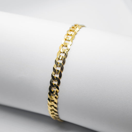 10K yellow gold curb bracelet - BRA0001