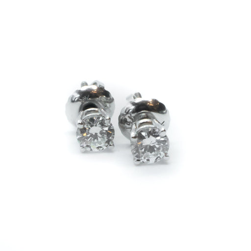 14Kw Diamond Solitaire Earrings