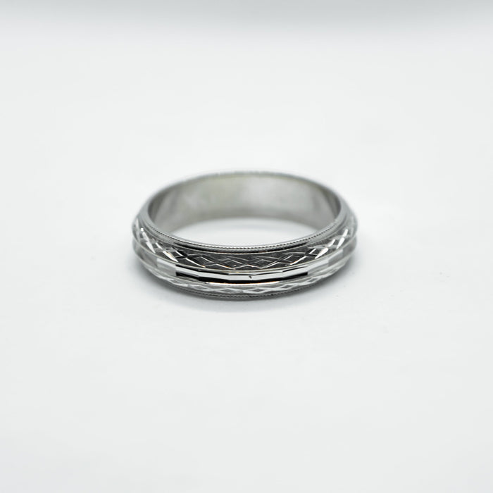 10K white gold Siffari band - VIN0069