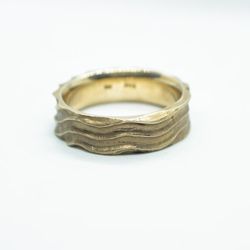 "10K yellow gold ""Sand Dune""  wedding band - WED0002"