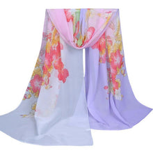 Load image into Gallery viewer, Fashion Morning Glory Women Scarf Female Brand Soft Wool Cashmere Long Shawl and Scarves For Women