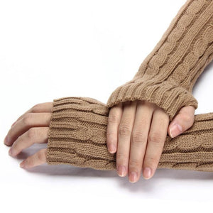 JECKSION 7 Colors Gloves ladies Knitted Arm Fingerless Winter Gloves female gloves Soft Warm Mitten Guantes Sra Invierno #LYW