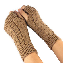 Load image into Gallery viewer, Mittens women fashion watch Knitted Arm Fingerless Mitten For Winter Gloves Female Soft Warm Mitten Guantes de invierno #LYW