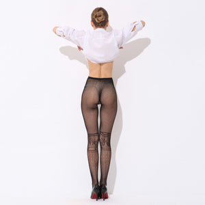 Sexy Womens Lingerie net Lace Top Garter Belt Thigh Stocking Pantyhose