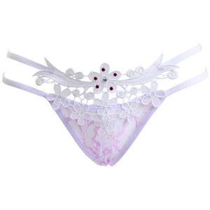 Sexy Lady Lace Underwear Panties Briefs Bikini Lingerie Thongs G-string BK