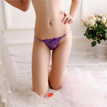 Load image into Gallery viewer, Women Sexy Lace Briefs Panties Thongs G-string Lingerie Underwear BK