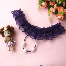 Load image into Gallery viewer, Sexy Lady Women Thongs G-string Lace Pearl Panties Lingerie Underwear BK