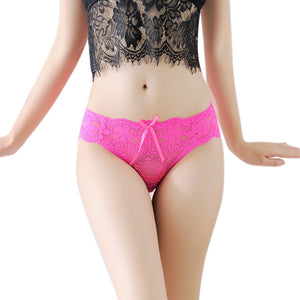 Lace Underwear Women Panties Sexy Passion Silk String Butt Lifter Transparent GN