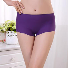 Load image into Gallery viewer, Women Invisible Underwear Underpants Boxer Briefs Spandex Seamless Crotch BK