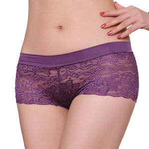 Women Lace Panties Underwear Transparent Comfort Knickers breathable WH