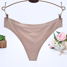 Load image into Gallery viewer, Sexy Women Invisible Underwear Briefs G-Strings Ice Silk Seamless Crotch BK L