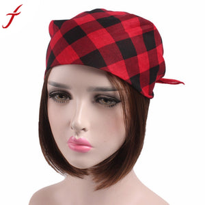 2017 Women Men Plaid Bandanas Head Wrap Turban Hair Spring,Summer Cotton Accessories Headband