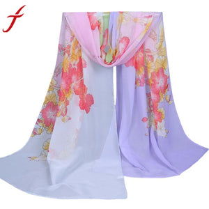 Fashion Morning Glory Women Scarf Female Brand Soft Wool Cashmere Long Shawl and Scarves For Women