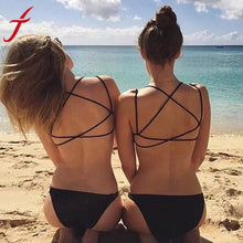 Load image into Gallery viewer, JECKSION Bustier Crop Tops Women 2016 Fashion Bikini Strap Vest Cut Out Shirt Backless Tops Summer Beach Cropped Feminino