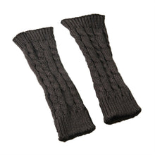 Load image into Gallery viewer, Unisex Winter Knitted Gloves Arm Sleeve Fingerless Long Warmers with Thumb Hole for Men Women