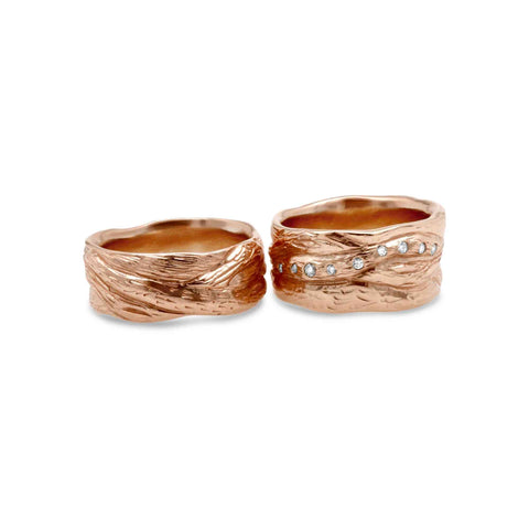 Branches wedding rings by WEND Jewelry