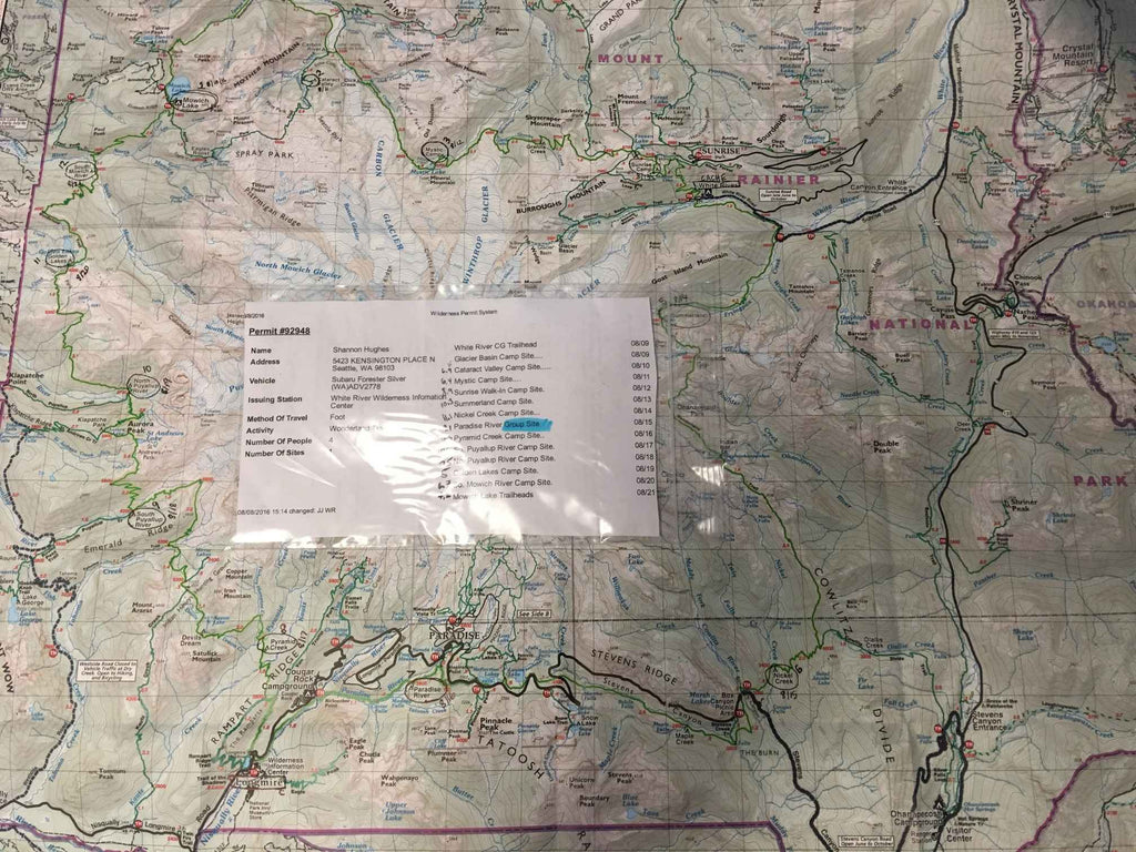 Wonderland Trail itinerary for WEND Jewelry