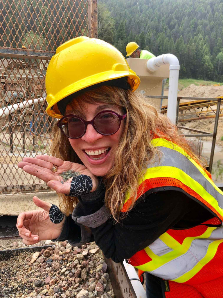 Wendy Woldenberg visiting the Potentate Mine in Montana WEND Jewelry