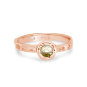 Tidepools ring band inspired by ocean tide pools with a rustic diamond in certified recycled gold by WEND Jewelry