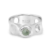 Tidepools ring band inspired by ocean tide pools with a recycled vintage diamond known as a heritage diamond in certified recycled gold by WEND Jewelry