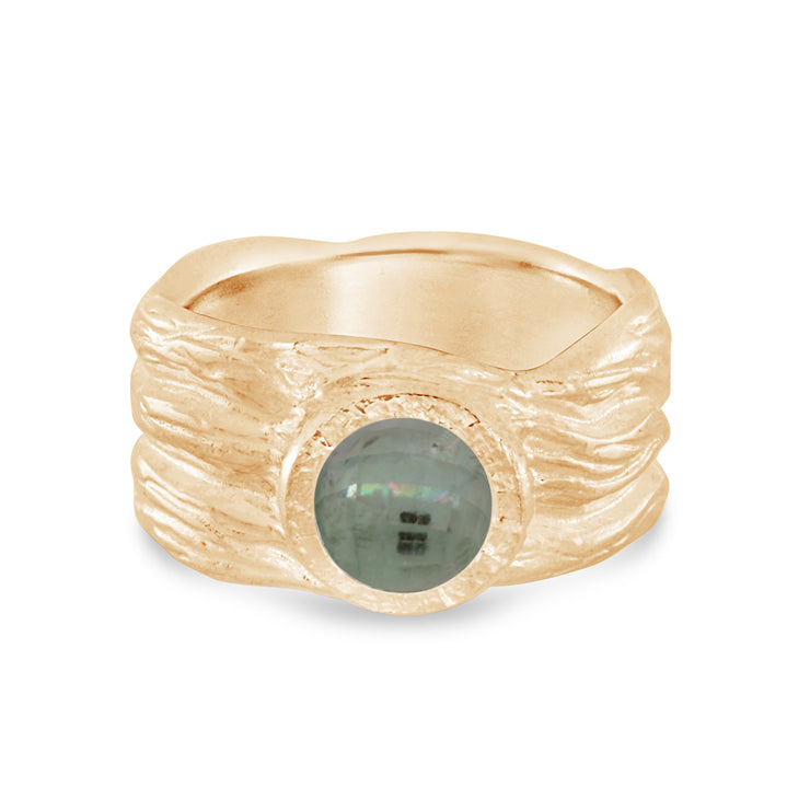 Roots ring bands look like branches or a branches ring with a rustic diamond in certified recycled gold by WEND Jewelry