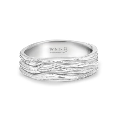 Roots ring bands look like branches or a branches ring made in certified recycled gold by WEND Jewelry