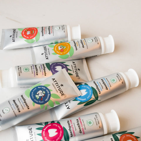 ATTITUDE Living natural toothpaste with fluor for kids and adults