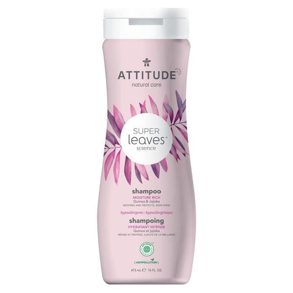 ATTITUDE Super Leaves Shampoo Moisture Rich  Restores and protects adds shine_en?_main?