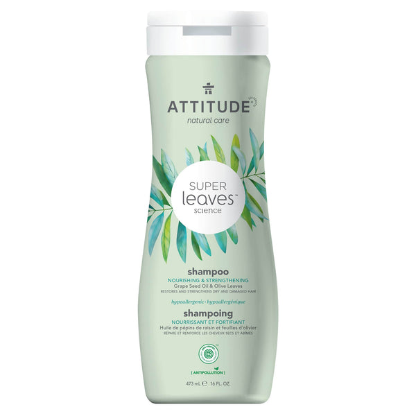 ATTITUDE Super Leaves Shampoo Nourishing & Strengthening : Super leaves™ : Restores and strengthens dry and damaged hair 11093_en?_main?