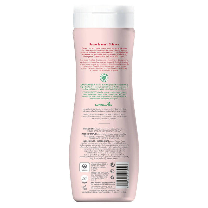ATTITUDE Super Leaves Shampoo Color Protection Protects and adds radiance 11094_en?_back?