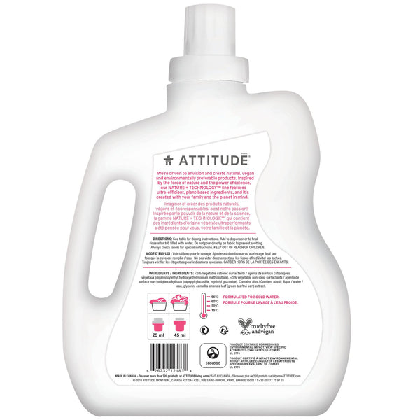 ATTITUDE Nature+ Baby Fabric Softener Fragrance-free back of the bottle _en?_hover?