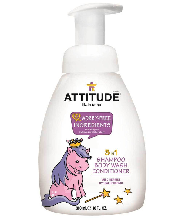 ATTITUDE  little ones  3 in 1 Kids Foaming Body Wash, Shampoo & Conditioner   _en?_main?