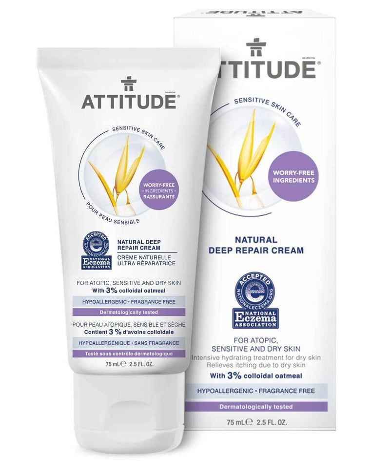 ATTITUDE  Eczema Solution  Deep Repair Cream   Enriched with oatmeal _en?_main?