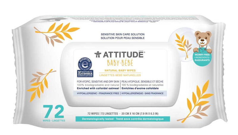 ATTITUDE  Baby Eczema Solution  Baby Wipes   Enriched with oatmeal _en?_main?