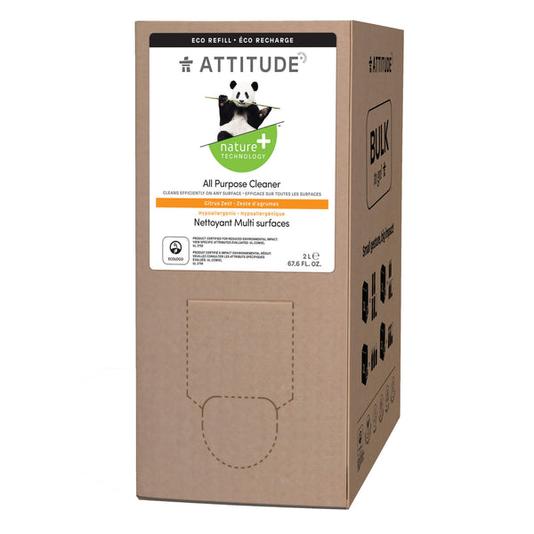 80120 ATTITUDE Nature+ All Purpose Cleaner 2L Format Eco-Refill Citrus Zest _en?_main?