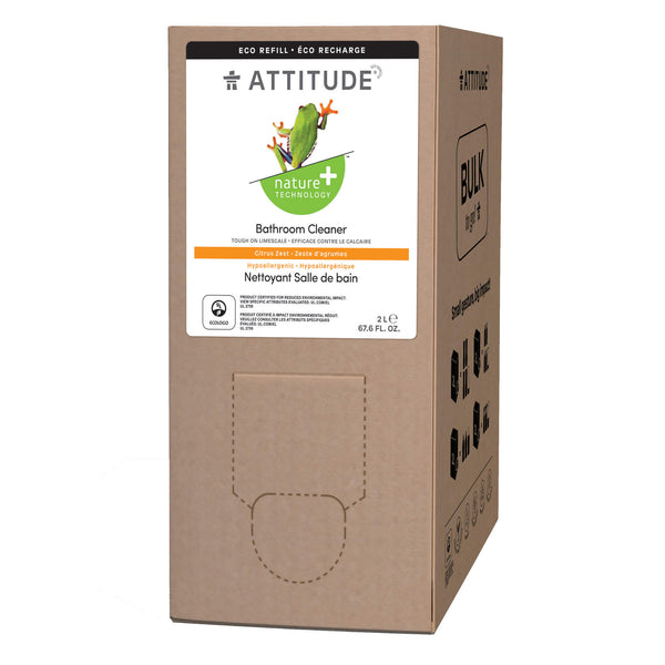 80420 ATTITUDE Nature+ Bathroom Cleaner  2L Format  Eco-Refill Citrus Zest _en?_main?