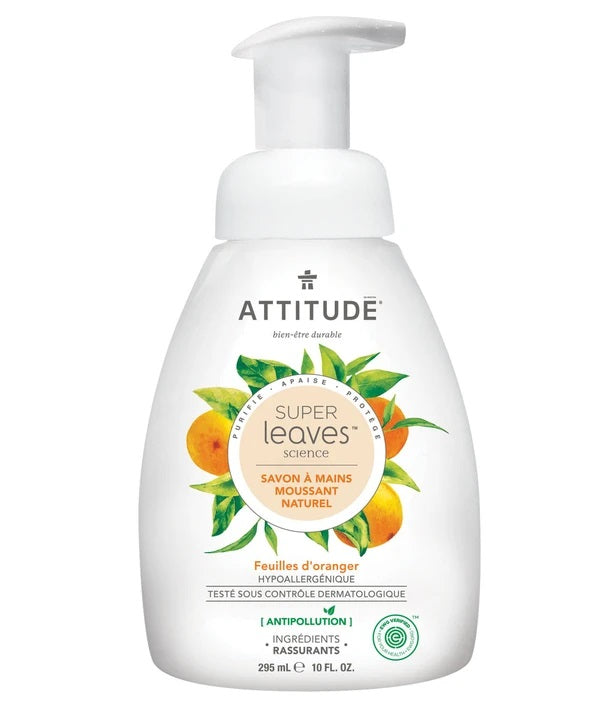 Natural Foaming Hand Soap Attitude, with hypoallergenic ingredients_orange leaves_en?_main?
