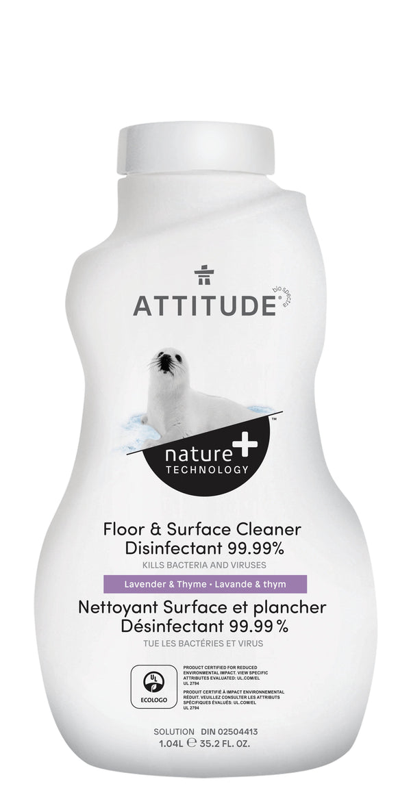 ATTITUDE Nature+ Floor & Surface Cleaner Disinfectant 99,99% Lavender & Thyme 10512_en?_main?