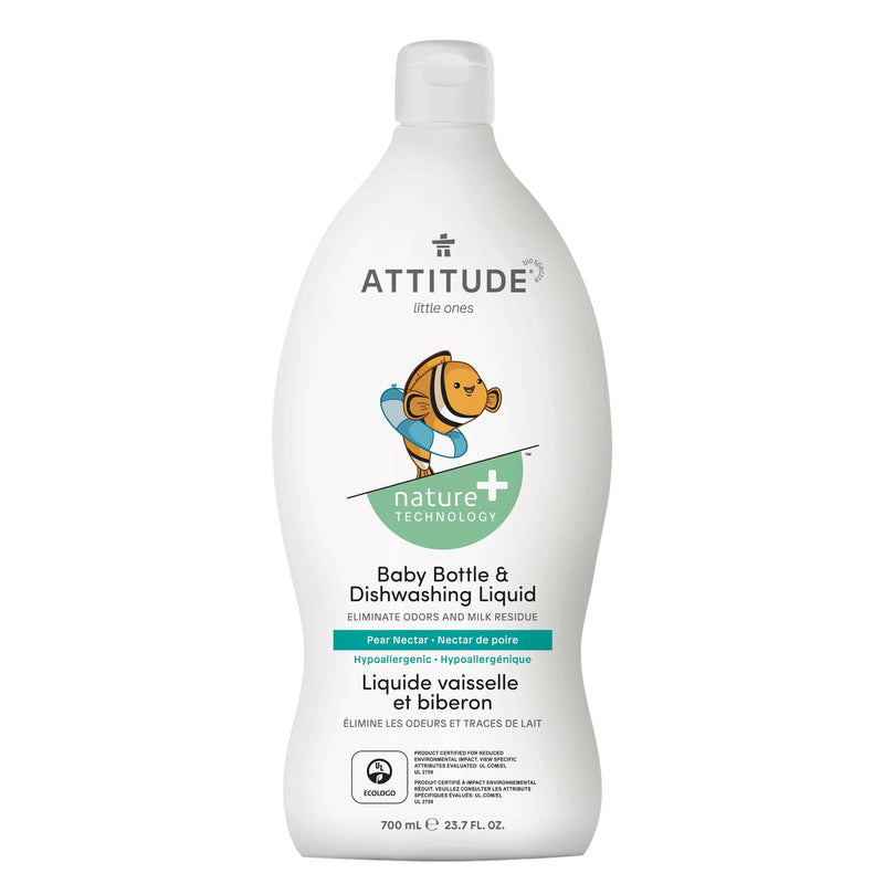 ATTITUDE Nature+ baby bottle dishwashing liquid pear nectar hypoallergenic 13178_en?_main?