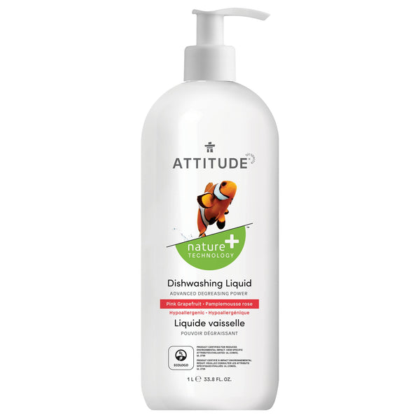 ATTITUDE Nature+ dishwashing liquid pink grapefruit hypoallergenic 13186_en?_main?