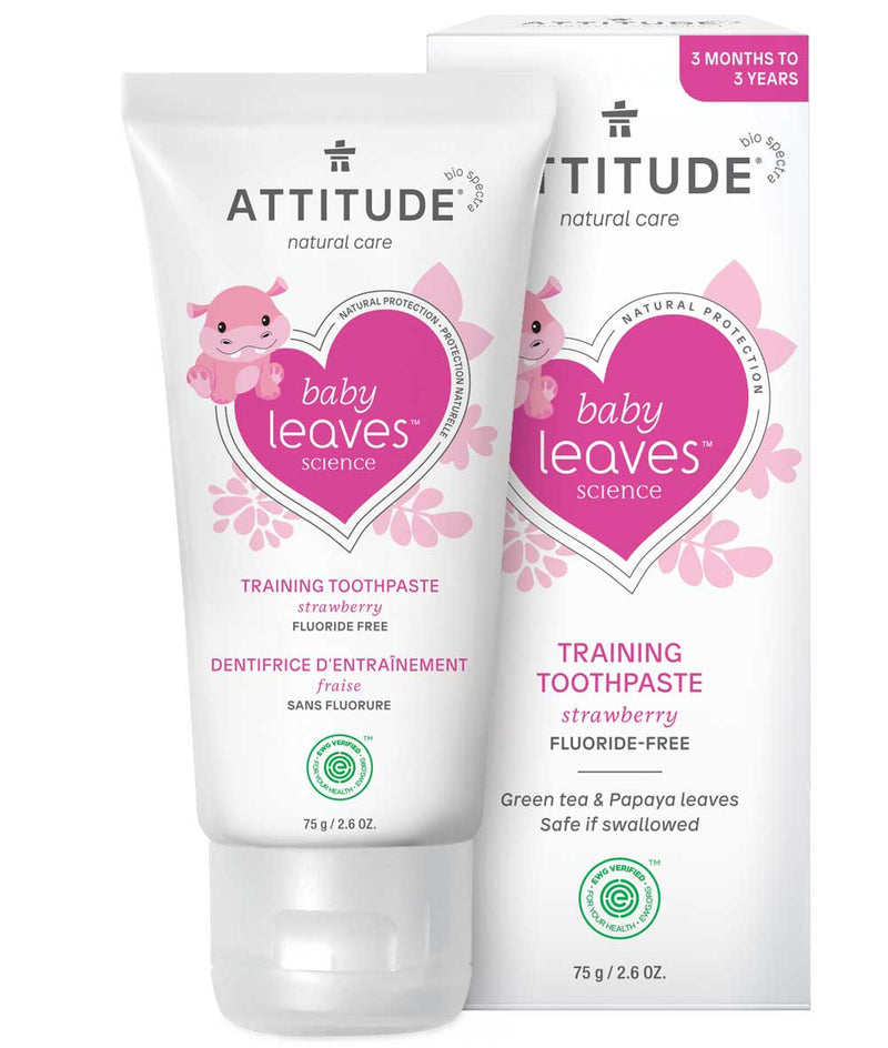 ATTITUDE  baby leaves™  Fluoride free Training Toothpaste   Strawberry _en?_main?