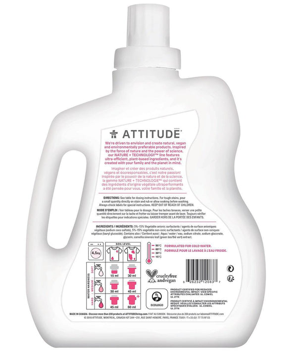 ATTITUDE  Nature+  Baby Laundry Detergent   Fragrance-free _en?_hover?